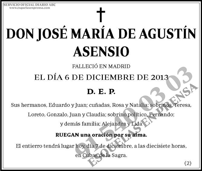 José María de Agustín Asensio